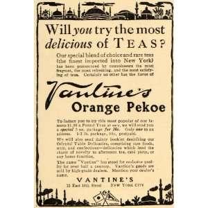 Orange Pekoe Teas Drink Beverages   Original Print Ad
