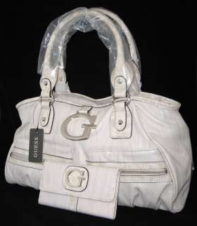 GUESS Jerica Logo Bag Purse Satchel Wallet Synt Leather