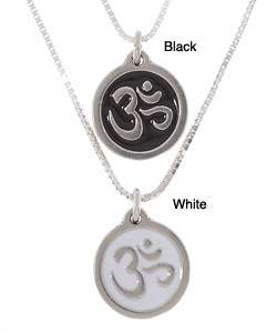 Sterling Silver Charming Life Sanskrit Om Charm Necklace