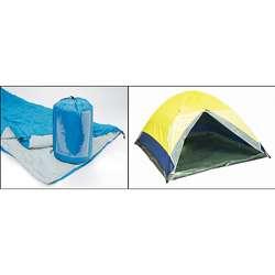 Tent and Sleeping Bag Set