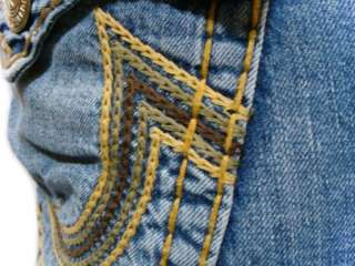 Mens Jeans Ricky Super T Rainbow Chain Stitch Combo Conductor