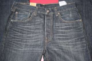 NEW WITH TAGS MENS LEVIS ORIGINAL 501 RED TAB BUTTON FLY JEANS