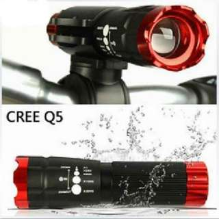 Bike Bicycle Red Head Front Light CREE Q5 LED Flashlight 240 Lumen