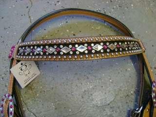 MAD COW SWAROVSKI DIAMOND CRYSTALS LEATHER WESTERN SHOW BRIDLE