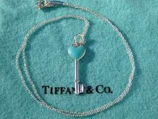 &Co. Elsa Peretti Sterling Silver Enamel Heart Key Pendant with Chain