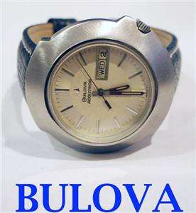 ss BULOVA ACCUTRON Mens watch DAY DATE 1970* EXLNT