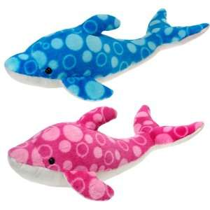 16.5 2 Assorted Color Bubble Print Dolphin Case Pack 24 Toys & Games