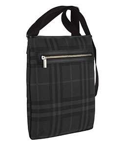 Burberry Black Plaid Messenger Bag
