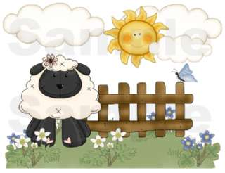 SHEEP LAMB BABY NURSERY WALL BORDER STICKERS DECALS