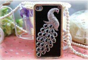 Luxury Design Crystal 3D Case Rhinestone Cover For iPhone 4 4G 4S