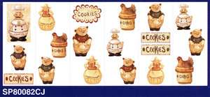 KITCHEN COKIES,CHEF,PIG,HEN WALL STICKERS SP80082CJ