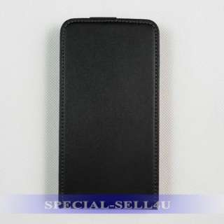 Genuine Leather Flip Case Samsung GALAXY S2 S II Black