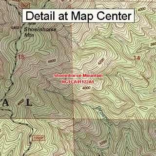 USGS Topographic Quadrangle Map   Shoeinhorse Mountain