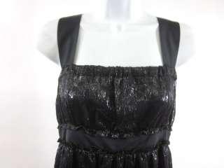 MISSONI Black Metallic Sleeveless Mini Dress Sz 4