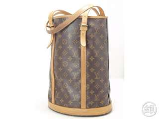 AUTHENTIC PRE OWNED LOUIS VUITTON MONOGRAM LARGE BUCKET GM TOTE BAG