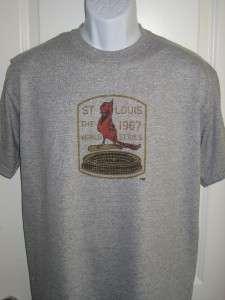 St. Louis CARDINALS 1967 World Series Logo T Shirt XXL