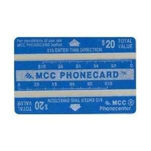 Collectible Phone Card $20. MCC Phonecard (Landis & Gyr