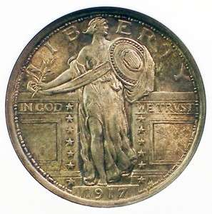 1917 TYPE I Standing Liberty Quarter Silver Coin ANACS MS 62 FH NICE