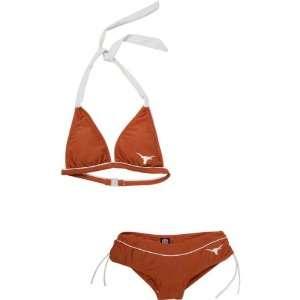 Texas Longhorns Womens Dark Orange Cheeky Bikini
