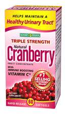 Bounty Triple Strength Natural Cranberry with Vitamin C (60 Softgels