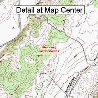 USGS Topographic Quadrangle Map   Mount Airy, Tennessee (Folded