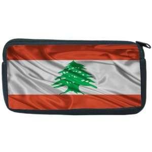 Lebanon Flag Neoprene Pencil Case   pencilcase   Ipod Case