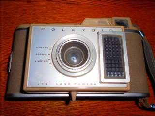 Vintage Polaroid J33 Land Camera and case