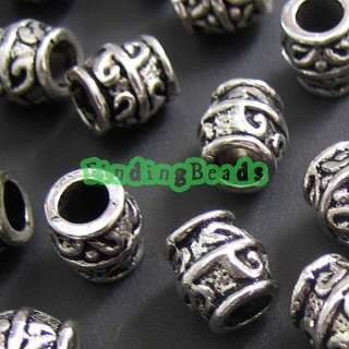 70Pcs Tibetan Silver Tube DIY Spacers Findings TS2112