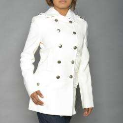 Alpha Industries Womens Winter White Long Wool blend Peacoat
