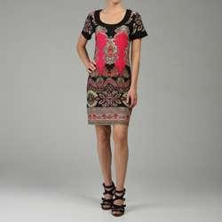 Tiana B. Womens Short sleeve Jersey Mod Dress