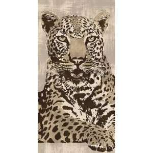 Andrew Cooper: 19.625W by 39.375H : Leopard CANVAS Edge