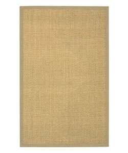 Hand woven Beige Border Seagrass Rug (5 x 8)