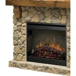 NEW Dimplex Stone Electric Flame Mantel Fireplace