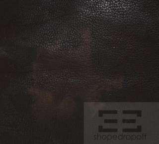 Henry Beguelin Brown, Black, & Orange Distressed Leather Crossbody Bag