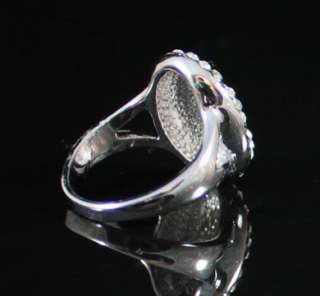 TURTLE SHELL COCKTAIL RING  SIZE7  AUSTRIAN RHINESTONE CRYSTAL GOLD