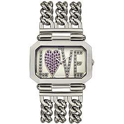 Guess Womens Crystal LOVE Dial Watch
