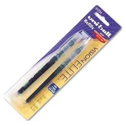 Uniball Vision Elite Blue/ Black Ink Refills (Pack of 12)