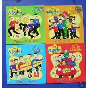 The Wiggles Early Learning Set of 4 Books Shapes, Colors, Numbers, ABC