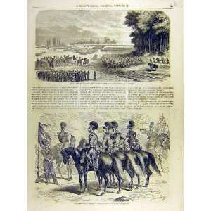 1863 Swiss Army Manoeuvres Cavalry Dragoons Print