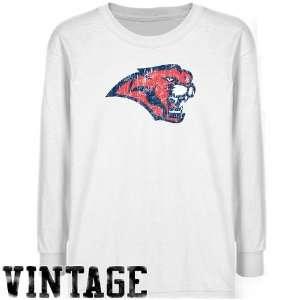 Houston Cougars T Shirt  Houston Cougars Youth White Distressed Logo