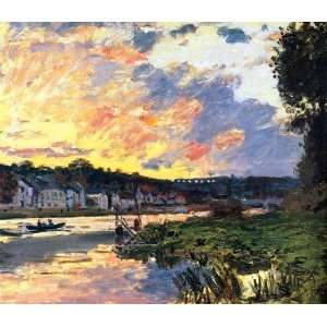 Paintings The Seine at Bougival in the Evening Oil Painting Canvas