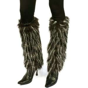 Winter Faux Shaggy Long Fur Animal Dance Ski Leg Warmer