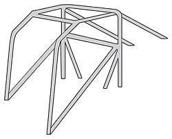 ALLSTAR PERFORMANCE 22620 10PT ROLL CAGE KIT FOR 1967 69 CAMARO