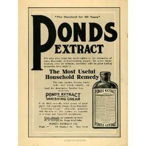 1910 Ad Ponds Extract Vanishing Cream Hygiene Health   Original Print