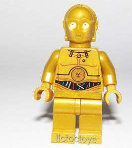 LEGO STAR WARS MINI FIGURE C3PO TATOOINE 9490 NEW DESIGN DROID C 3PO