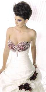 Bridal Wedding Dress Gown Private Label BY G # 1383 Ivory/Silver