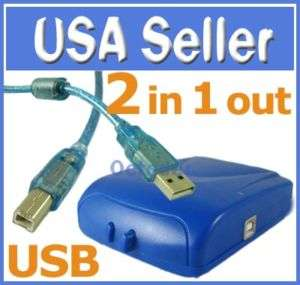 PC to 1 Printer Scanner USB 2.0 Sharing Switch +Cable