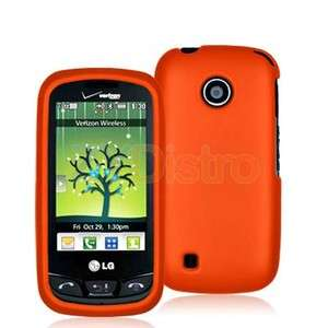 Orange Rubberized Hard Case Cover for LG Cosmos Touch