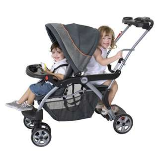 Baby Trend Sit N Stand Inline Double Baby Stroller Carbon