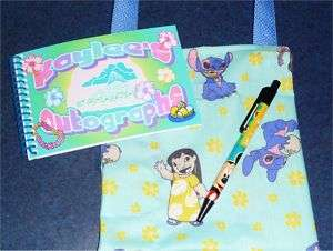 Custom DISNEY LILO STITCH HAWAII Autograph Book/Bag/Pen